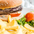 Foto Stock: Cheese burger