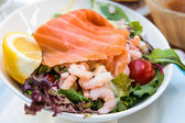 Fresh seafood salad — Stock Photo