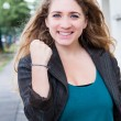 Clenched fists in street — Stock Photo