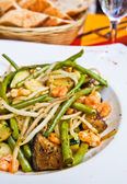 Plate of asian cuisine — Stock Photo