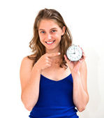 Woman checking the time — Stock Photo