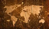 Ilustraciones vintage mundo mapa — Foto de Stock