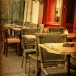 Постер, плакат: Old fashioned Cafe terrace