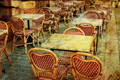 Old-fashioned Cafe terrace — Stockfoto