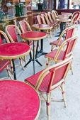 カフェのテラスのストリート ビュー — ストック写真