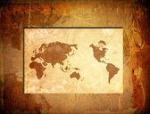 Scratch vintage world map — Stock Photo