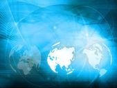 Asien-karte-technologie — Stockfoto