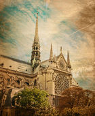 Cathedral,paris — Stock Photo
