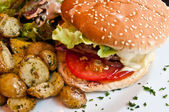 American cheese burger — Stock Photo