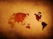 Mapa-múndi vintage zero — Foto Stock