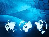 Dünya harita teknolojisi stili — Stok fotoğraf