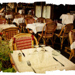 Old-fashioned Cafe terrace - Foto Stock