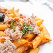 Italian meat sauce pasta - Stock Photo