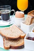 Breakfast with orange — Stock Photo
