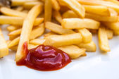 Golden French fries — Foto de Stock