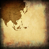 Aged asia map vintage — Stock Photo