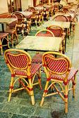 Terraço do café à moda antiga — Fotografia Stock