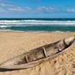 Malagasy fishing dugouts - Stock Photo