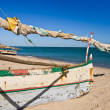 Outrigger canoes — Stock Photo