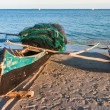 Stock Photo: Outrigger canoe