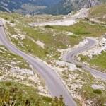 Narrow mountains route. Landscape - Montenegro. — Stock Photo