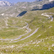 Aerial view on hairpin route - Montenegro — Stock Photo