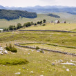 Village in valley - Durmitor — Stock Photo