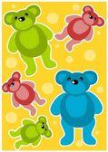 Teddy bears achtergrond — Stockvector