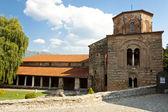 在奥赫里德圣索非亚教堂的外观. — 图库照片