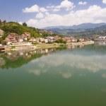 View on Visegrad town — Stock Photo