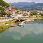 Coast of Drina river. — Stock Photo