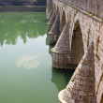 Old bridge on Drina river — Stock Photo