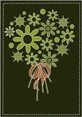 Beauty flowers bouquet — Stock Vector