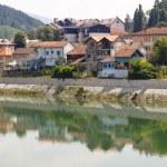 View on coast of Drina river — Stock Photo