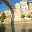 View from under bridge - Mostar — Stock Photo