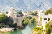 View on old bridge - Mostar — Stock Photo