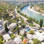 Aerial view - Pocitelj, Bosnia and Herzegovina. — Stock Photo