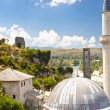 Roof of mosque in Pocitelj - Bosnia and Herzegovina. — Stock Photo