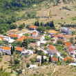 Aerial view on typical Croatian village. — Stock Photo