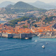 Aerial view on old part of Dubrovnik - Croatia. — Stock Photo