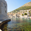 Wall of Dubrovnik town — Stock Photo