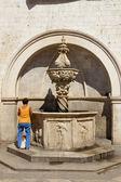 Old fountain - Dubrovnik, Croatia. — Stockfoto