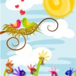 Spring time, love in the air. - Stock Vector