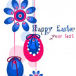 Beauty colorful vector illustration - Easter wreath. - Stock Vector