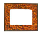 Antique frame with elephants — Stock Photo