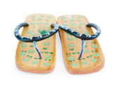 Two Chinese massage summer sandals — Stock Photo