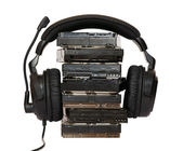 HDD with headphones — Stock Photo