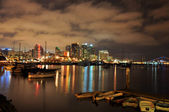 San Diego harbor at night — Stock Photo