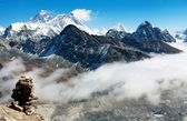 View from gokyo ri to everest — Stock Photo