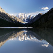 Masej lake and valley and rock face - altai mountains — Stock Photo